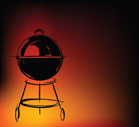 grilled: BBQ vector illustration