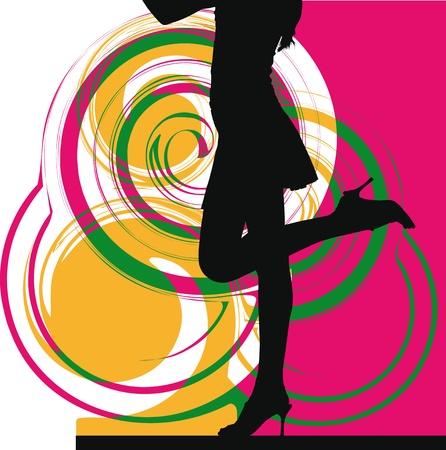 supermodel: women vector illustration Illustration