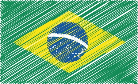 brazilian: brazilian flag, vector illustration