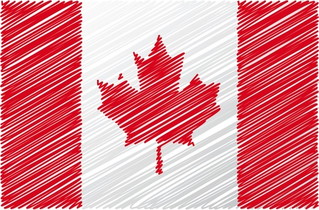canadian state flag: Canadian flag, vector illustration