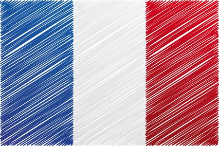 France flag, vector illustration Vector