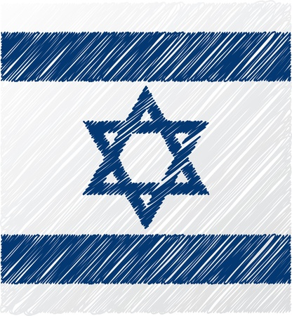 Israel flag, vector illustration Vector