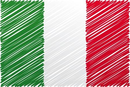 cultura italiana: Bandiera italiana, illustrazione vettoriale