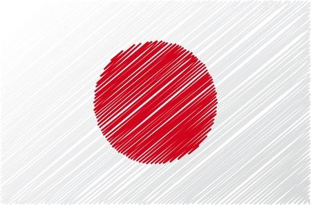 bandera japon: bandera japonesa, ilustraci�n vectorial