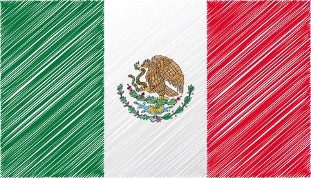 Mexico flag, vector illustration Stock Vector - 10842252