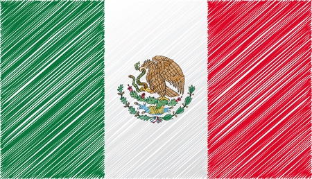 mexico culture: Mexico flag, vector illustration