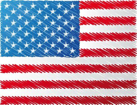 estados unidos bandera: nos bandera, ilustraci�n vectorial Vectores