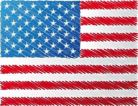 us flag, vector illustration Vector
