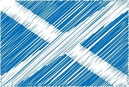 scotland: scottish flag, vector illustration