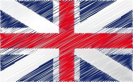 British flag, vector illustration Stock Vector - 10841890
