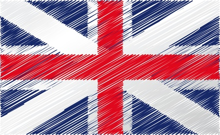drapeau angleterre: Drapeau britannique, illustration vectorielle Illustration