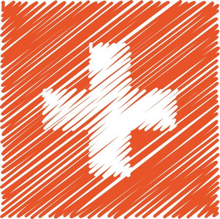 swiss flag: Swiss flag, vector illustration Illustration