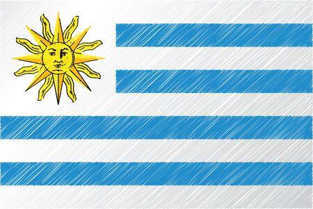 Uruguay flag, vector illustration Stock Vector - 10841989