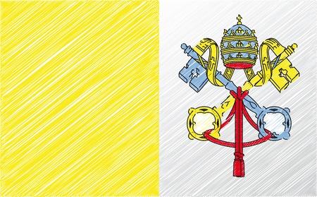 Vatican flag, vector illustration Vector