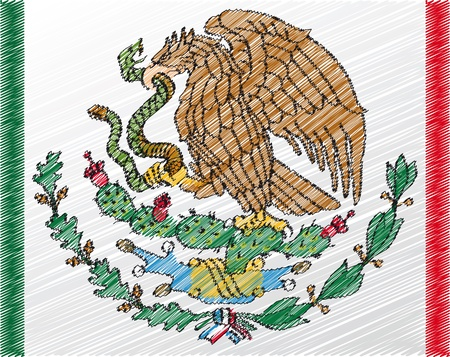 national pride: Coat of arms, Mexico. Vector illustration