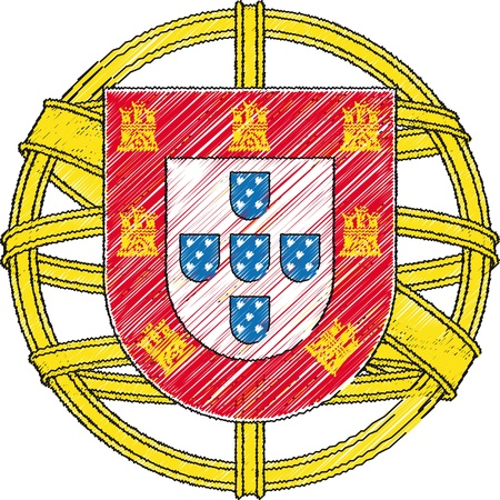 Coat of arms, Portugal. Vector illustration Vector
