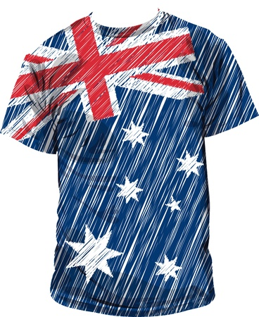 tee shirt: Australian tee, vector illustration