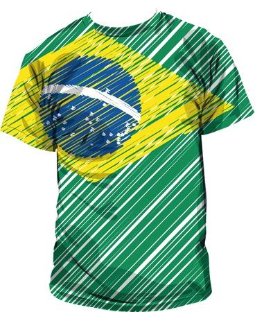 brazilian tee, vector illustration Vector
