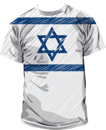 Israel tee, vector illustration Vector