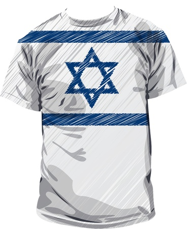 israel people: Israel tee, vector illustration Illustration