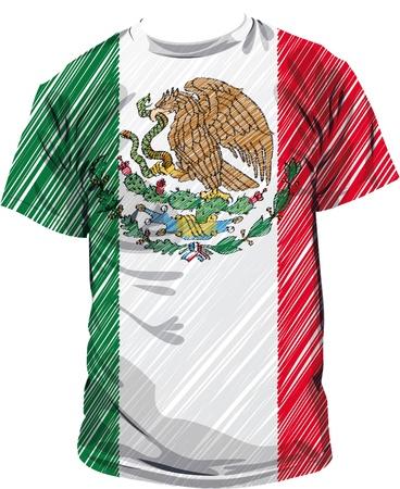 Mexico tee, vector illustration Stock Vector - 10842304