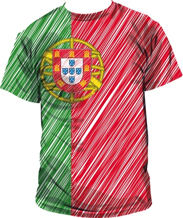 Portugal tee, vector illustration Vector
