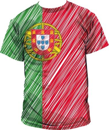portugal flag: Portugal tee, vector illustration