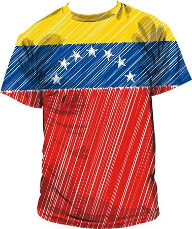 bandera de venezuela: Venezuela tee, ilustraci�n vectorial