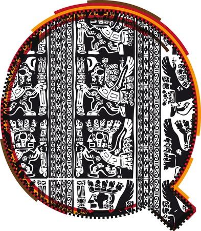 Inca`s font Vector Illustration