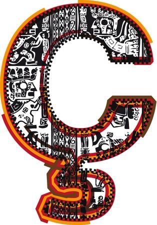 Inca`s font Stock Vector - 10892691