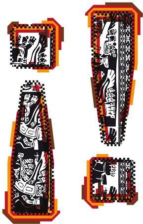 Inca`s font Stock Vector - 10892688