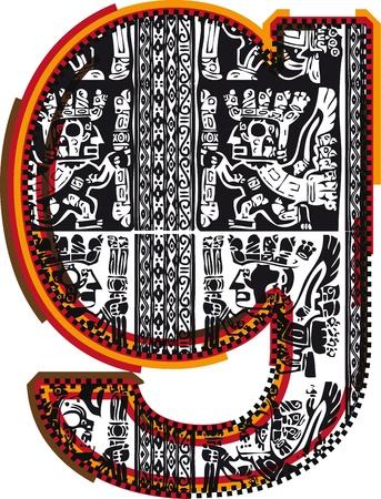 Inca`s font Stock Vector - 10892666