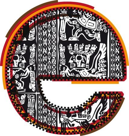 inca ruins: Inca`s font