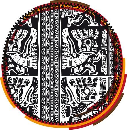 Inca`s font Stock Vector - 10892609