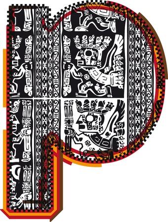 Inca`s font Vector