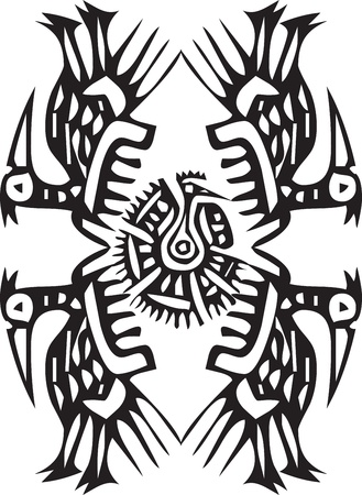 paracas: Ancient icon. Vector illustration