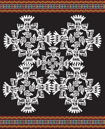 sudamerican: Ancient icon. Vector illustration