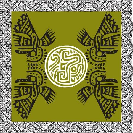 peruvian culture: Ancient icon. Vector illustration