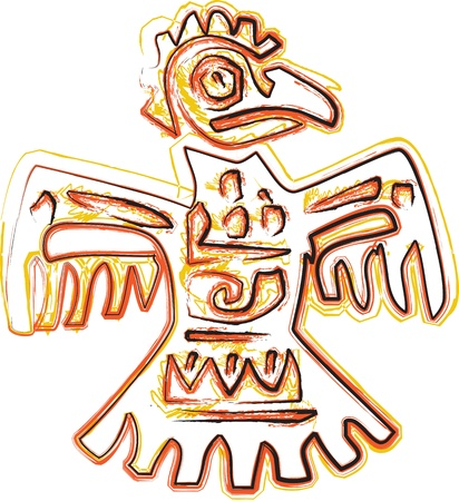 peruvian: Ancient icon. Vector illustration