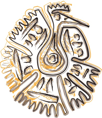 inca: Ancient icon. Vector illustration