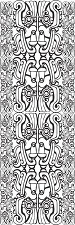 hieroglieven: Het oude patroon. Vector illustratie