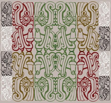 inca: Ancient pattern. Vector illustration