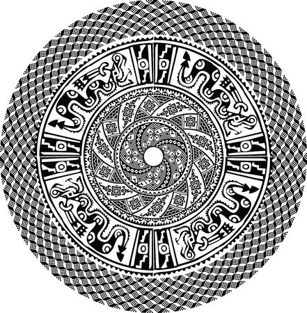 paracas: Ancient pattern. Vector illustration