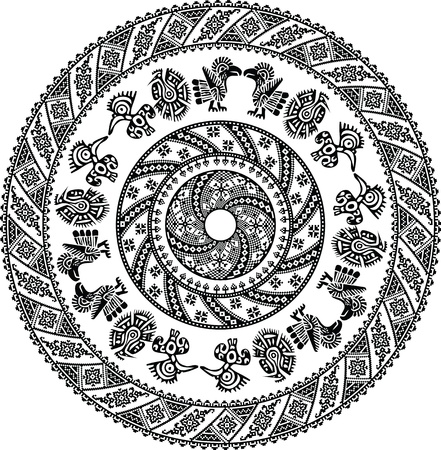 mayan culture: Ancient pattern. Vector illustration