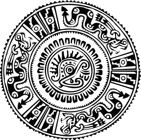 mayan culture: Ancient pattern. Vector illustration