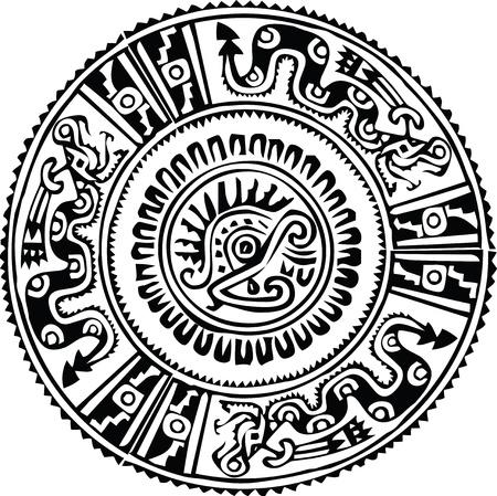 cultura maya: Modelo antiguo. Ilustraci�n vectorial