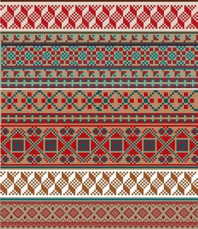 sudamerican: Ancient pattern. Vector illustration