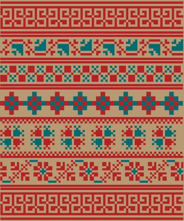 archeology: Ancient pattern. Vector illustration
