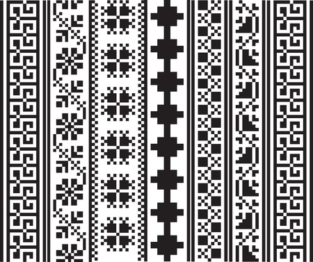 hieroglyphics: Ancient pattern. Vector illustration