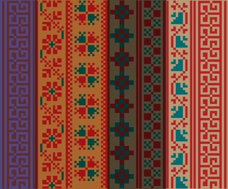 hieroglieven: Oude patroon. Vector illustratie